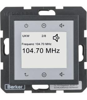 B.x/S.1 Radio Touch, antracyt mat Berker 28841606