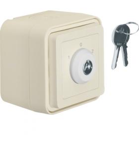 W.1 Łącznik na klucz z zamkiem, klucz wyjmowalny w 3 pozycjach, kompletny, IP55, biały Berker 32723512