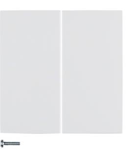 B.x/S.1 Przycisk 2-krotny do ściemniacza przyciskowego i sterownika załączającego Berker.Net, biały, połysk Berker 85142189