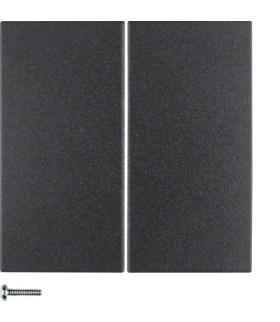 B.x/S.1 Przycisk 2-krotny do ściemniacza przyciskowego i sterownika załączającego Berker.Net, antracyt, mat Berker 85142185