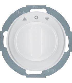 R.classic Łącznik żaluzjowy obrotowy z elementem centralnym i pokrętłem, 1-biegunowy, biały, połysk Berker 38112089