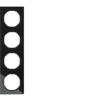 R.3 Ramka 4-krotna, szkło, czarny Berker 10142216