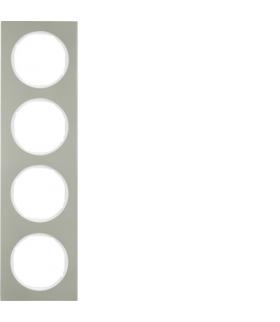 R.3 Ramka 4-krotna, stal szlachetna/biały Berker 10142214
