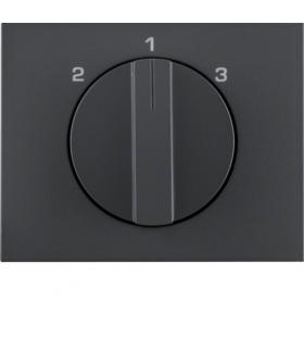 K.1 Płytka czołowa z pokrętłem do łącznika 3-pozycyjnego bez pozycji zerowej, antracyt mat, lakierowany Berker 10887106