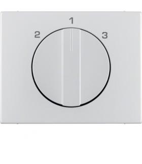 K.5 Płytka czołowa z pokrętłem do łącznika 3-pozycyjnego bez pozycji zerowej, alu Berker 10887103