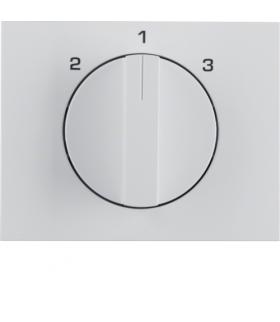 K.1 Płytka czołowa z pokrętłem do łącznika 3-pozycyjnego bez pozycji zerowej, biały Berker 10887109