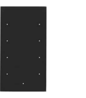 TS Sensor szklany dotykowy 4-krotny, konfigurowalny, szkło, czarny Berker 169405