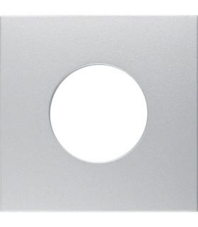 B.Kwadrat/B.7 Płytka czołowa do łącznika i sygnalizatora świetlnego E10, alu Berker 11241404