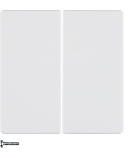 Q.x Przycisk 2-krotny do ściemniaczy przyciskowych i sterowników załączających Berker.Net, biały, aksamit Berker 85142129