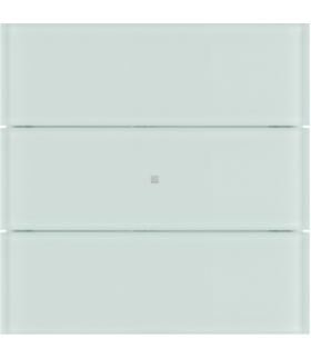 B.IQ Przycisk 3-krotny komfort,  szkło białe