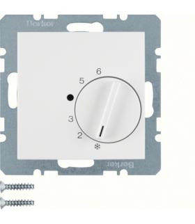 B.3/B.7 Regulator temperatury pomieszczenia z zestykiem zmiennym i elementem centralnym, biały Berker 20261909