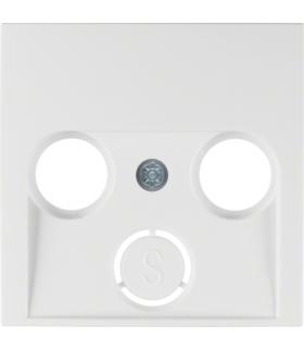 S.1/B.3/B.7 Płytka czołowa do gniazda antenowego 2- i 3-wyjściowego, biały, połysk Berker 12038989