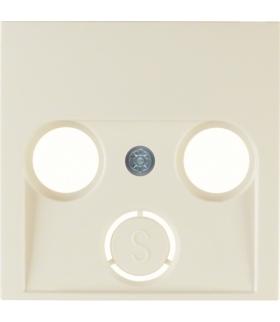 S.1 Płytka czołowa do gniazda antenowego 2- i 3-wyjściowego, kremowy, połysk Berker 12038982