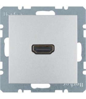 B.Kwadrat/B.7 Gniazdo HDMI, alu, mat Berker 3315421404