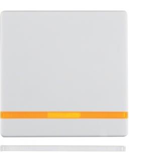 Q.x Klawisz z 2 dołączonymi soczewkami do łącznika 1-klawiszowego, biały, aksamit Berker 16216089