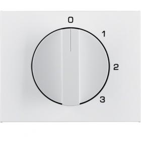 K.1 Płytka czołowa z pokrętłem do łącznika 3-pozycyjnego z pozycją zerową, biały Berker 10877109