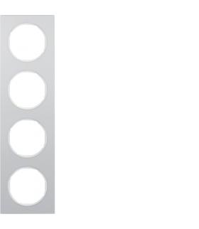 R.3 Ramka 4-krotna, alu/biały Berker 10142274