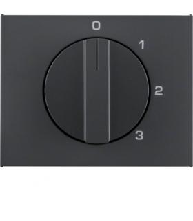 K.1 Płytka czołowa z pokrętłem do łącznika 3-pozycyjnego z pozycją zerową, antracyt mat, lakierowany Berker 10877106