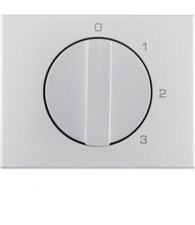 K.5 Płytka czołowa z pokrętłem do łącznika 3-pozycyjnego z pozycją zerową, alu Berker 10877103