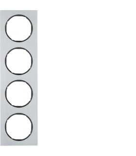 R.3 Ramka 4-krotna, alu/czarny Berker 10142284