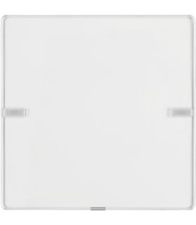 KNX e/s Q.x Przycisk 1-kr z polem opis., diod. LED RGB i czuj. temp., biały