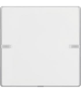 KNX e/s Q.x Przycisk 1-kr z polem opis., diod. LED RGB i czuj. temp., alu