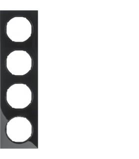R.3 Ramka 4-krotna, czarny, połysk Berker 10142245