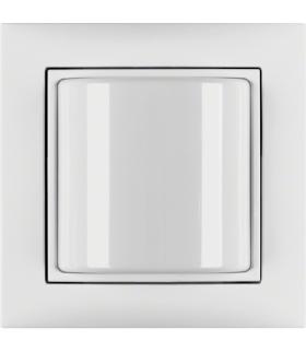 B.Kwadrat/S.1 System przywoławczy Sygnalizator świetlny z ramką, biały połysk Berker 52038989