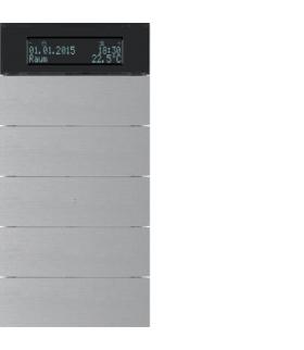 B.IQ Przycisk 5-kr z reg. temp. i wyśw. aluminium