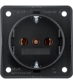 Integro Flow Gniazdo SCHUKO, mechanizm, czarny, mat Berker 9418505