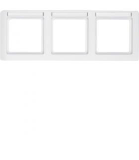 Q.1 Ramka 3-krotna pozioma z polem opisowym, biały, aksamit Berker 10236019