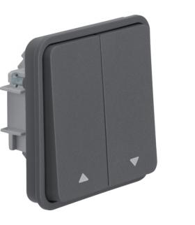 W.1 Moduł łącznika żaluzjowego przyciskowego, IP55, szary Berker 50553525