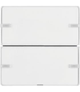 KNX e/s Q.x Przycisk 2-kr z polem opis., diod. LED RGB i czuj. temp., biały