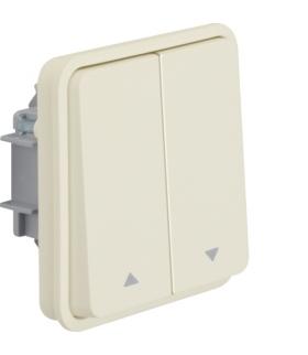 W.1 Moduł łącznika żaluzjowego przyciskowego, IP55, biały Berker 50553522