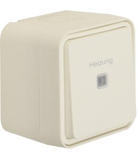 """W.1 Łącznik uniwersalny z nadrukiem """"Heizung"""" kompletny IP55 biały Berker 35663502"""