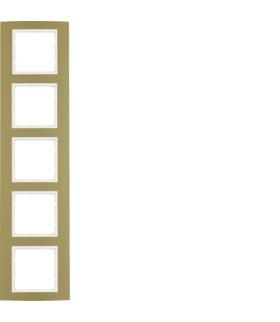 B.3 Ramka 5-krotna, alu, złoty/biały Berker 10153046