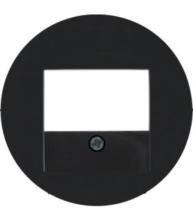 R.x Płytka czołowa do gniazda głośnikowego i gniazda ładowania USB, czarny, połysk Berker 10382045