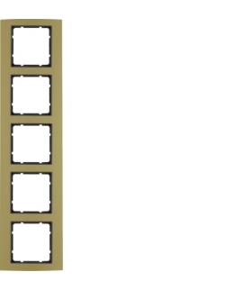 B.3 Ramka 5-krotna, alu, złoty/antracyt Berker 10153016