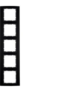 B.3 Ramka 5-krotna, alu, czarny/antracyt Berker 10153005