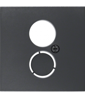 B.x Płytka czołowa do gniazda głośnikowego i przyłączy miniaturowych, antracyt Berker 11961606