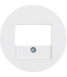 R.x Płytka czołowa do gniazda głośnikowego i gniazda ładowania USB, biały, połysk Berker 10382089