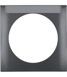 Integro Flow Ramka 1-krotna z polem opisowym, antracyt, mat Berker 918032505