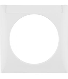 Integro Flow Ramka 1-krotna z polem opisowym, biały, połysk Berker 918032509