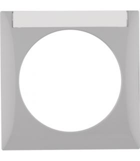 Integro Flow Ramka 1-krotna z polem opisowym, szary, połysk Berker 918032507