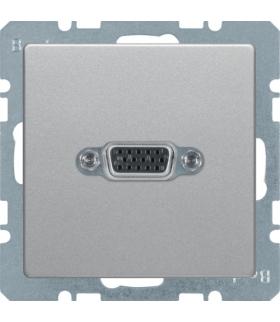 Q.x Gniazdo VGA, alu aksamit, lakierowany Berker 3315406084