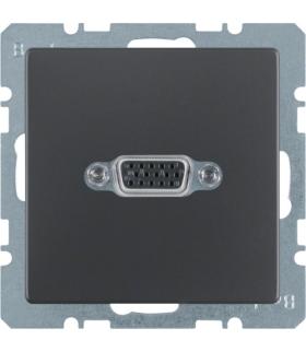 Q.x Gniazdo VGA, antracyt aksamit, lakierowany Berker 3315406086