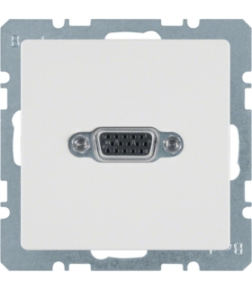 Q.x Gniazdo VGA, biały, aksamit Berker 3315406089