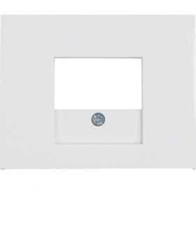 K.1 Płytka czołowa do gniazda głośnikowego i gniazda ładowania USB, biały Berker 10357009