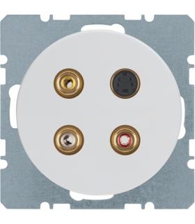 R.1/R.3 Gniazdo 3xCinch/S-Video, biały, połysk Berker 3315322089
