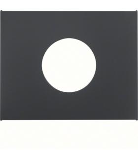 K.1 Płytka czołowa do łącznika i sygnalizatora świetlnego E10, antracyt mat, lakierowany Berker 11657006